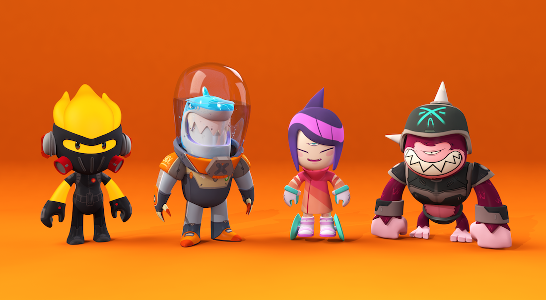 3d Character Design Website : Cocodrilo dog play with the music